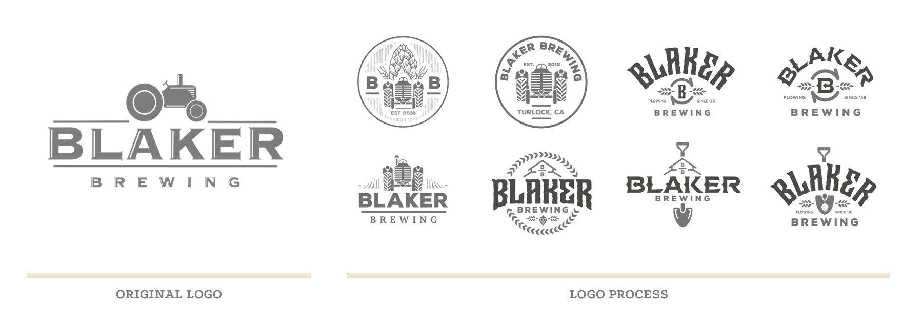 Blaker Brewing Logo Process