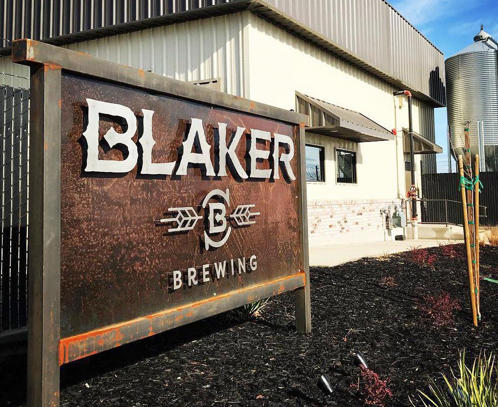 Blaker Brewing Exterior Sign Design