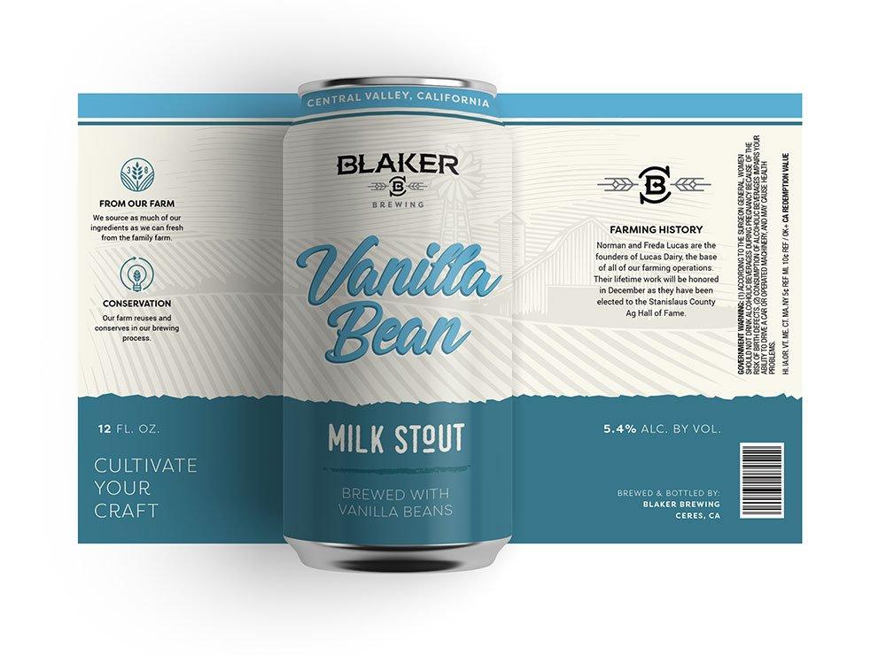 Blaker Brewing Vanilla Bean Milk Stout Can