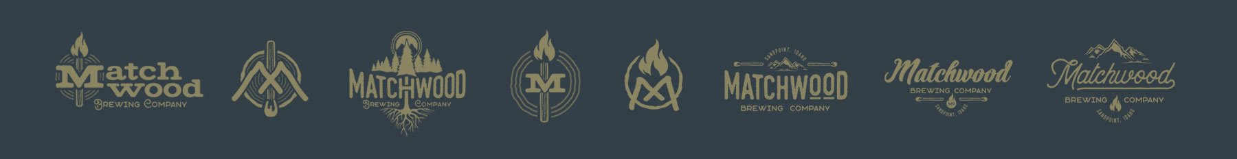 Matchwood Brewing logo design process