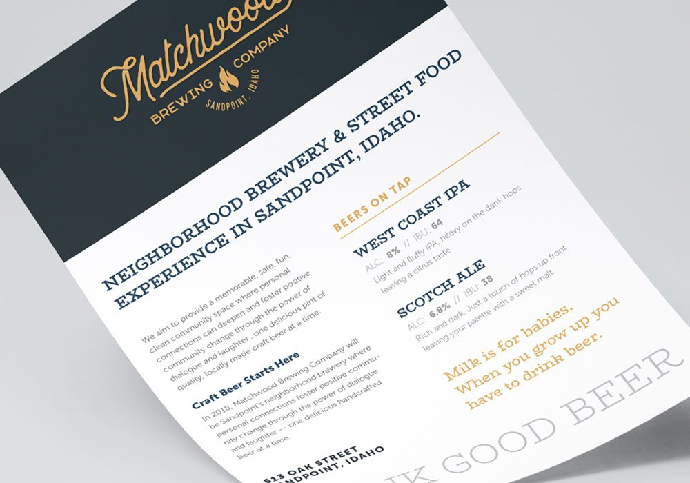 Matchwood Brewing Typography sample