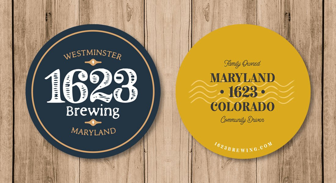 1623 Brewing Co Coasters