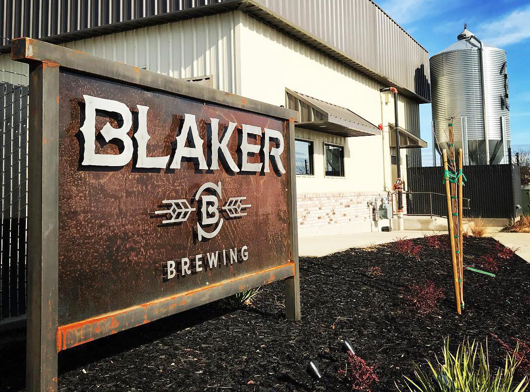 Blaker Brewing Outdoor Sign