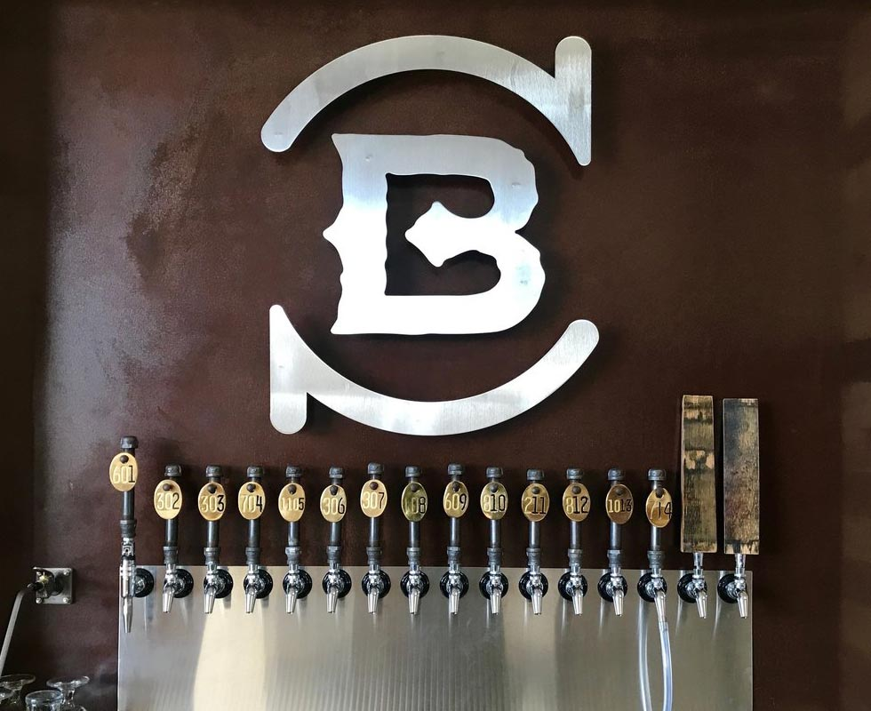 Blaker Brewing Tap Wall