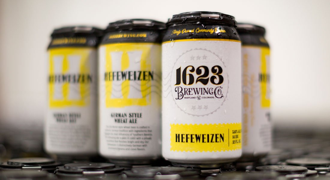 1623 Brewing Co Hefeweizen Cans