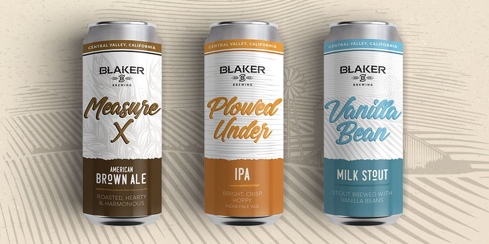 Blaker Brewing Can Designs