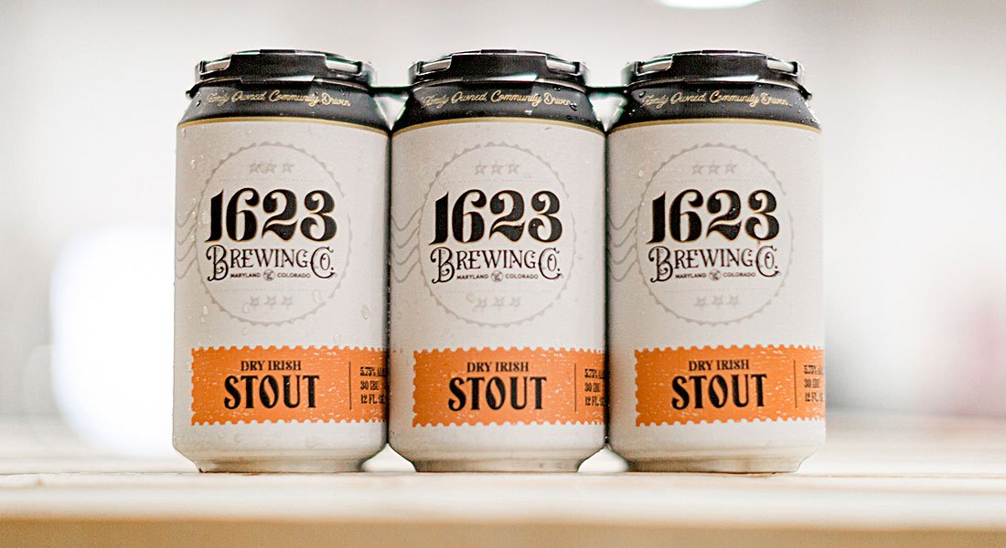 1623 Brewing Co Dry Irish Stout Cans