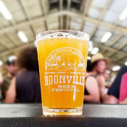 Boonville Beer Festival tasting glass