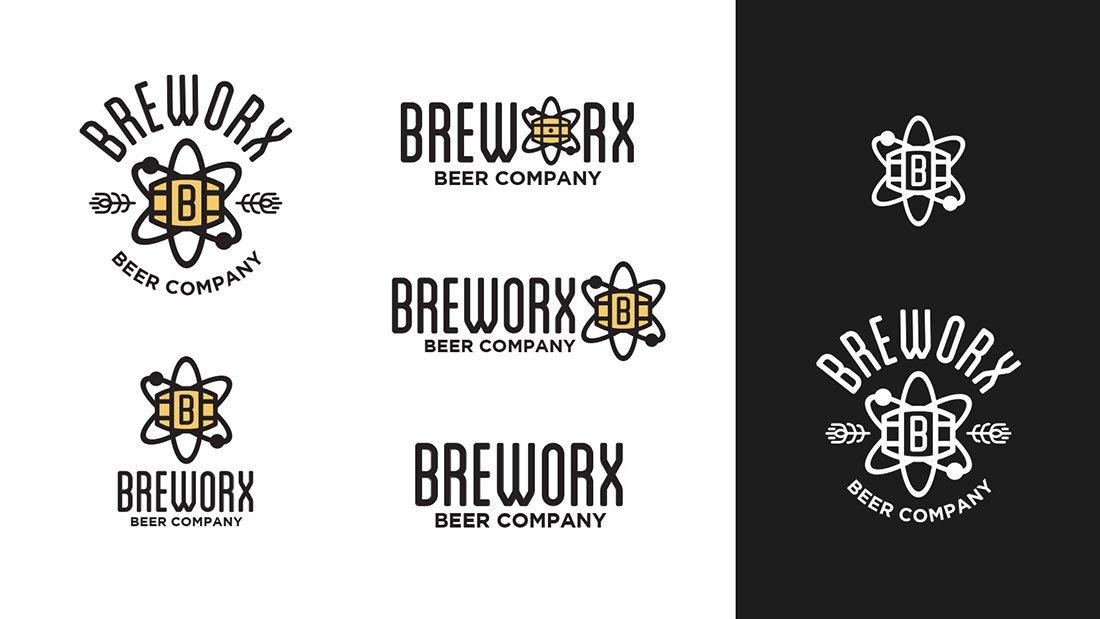 Breworx Beer Company Logo System