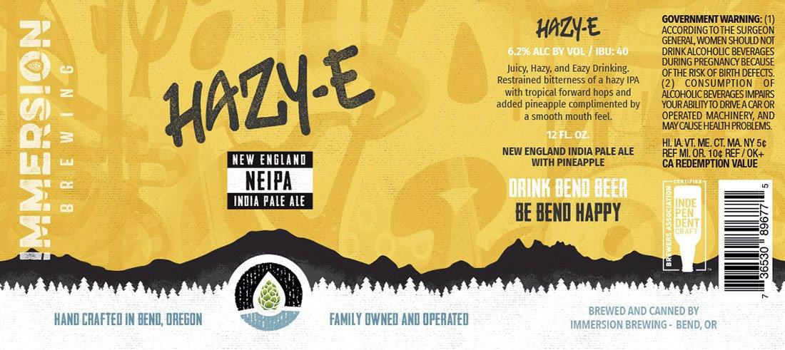 Hazy-E 12oz label