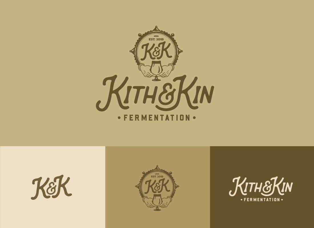 Kith & Kin Fermentation Logo System