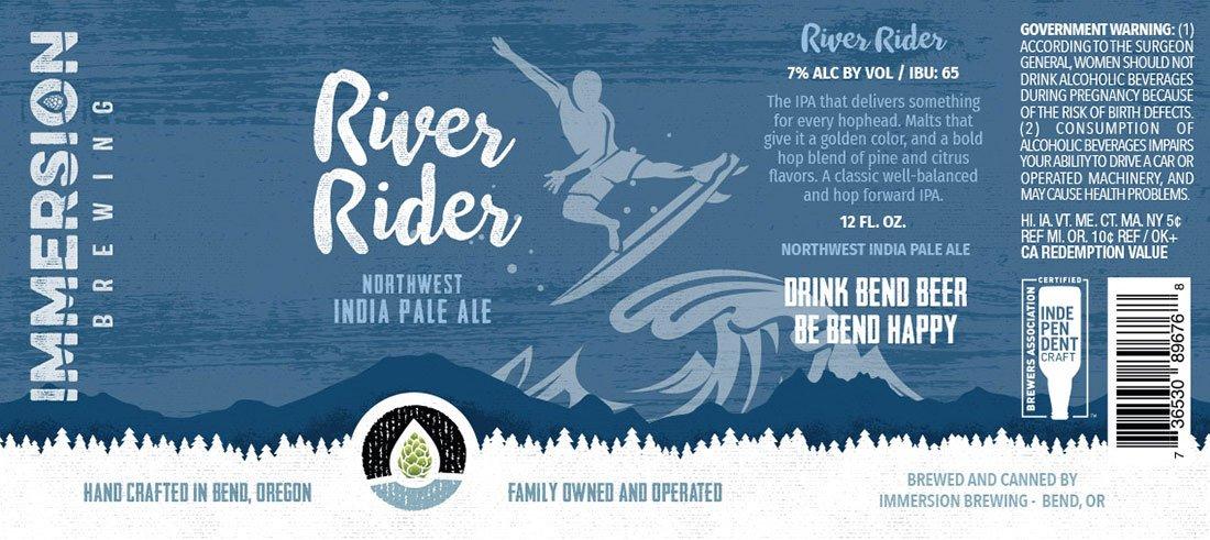 River Rider 12oz label