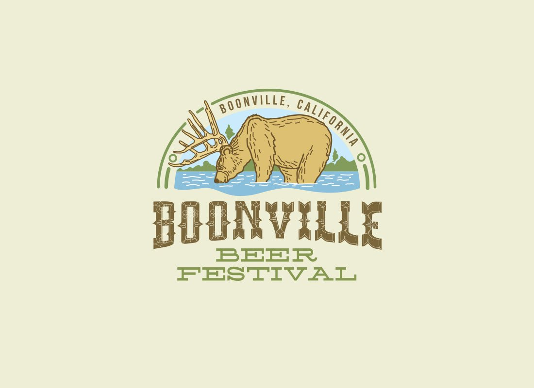 Boonville Beer Festival new logo design