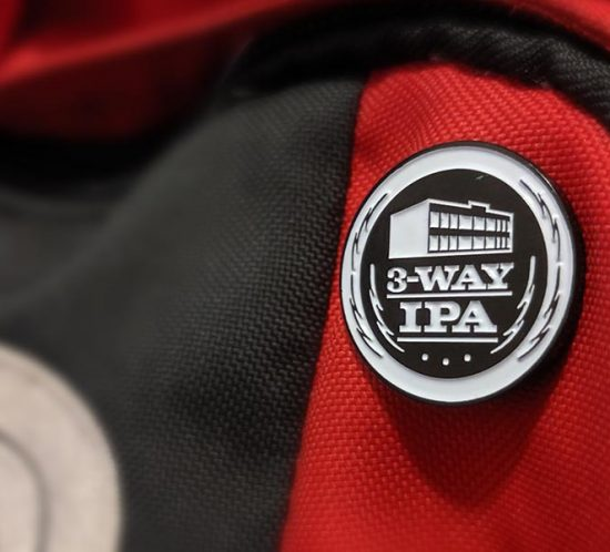 Free Beer Merchandise - Pin on a Backpack